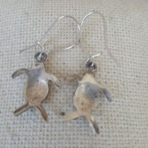 Hellmut Cordes Jewelry - turtle dangle earrings sterling silver